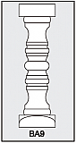 BA9 - Architectural Foam Shape - Baluster