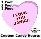 Custom Candy Heart Foam Display Prop