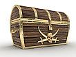 Treasure Chest Cardboard Cutout Standup Prop
