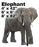 Elephant Side Cardboard Cutout Standup Prop