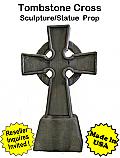 Tombstone Cross Sculpture Statue Prop