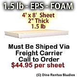 EPS Foam Sheet - 1.5 lb Density - 48x96x2