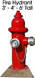 Fire Hydrant Cardboard Cutout Standup Prop