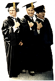Three Stooges Graduates - The Three Stooges Cardboard Cutout Standup Prop