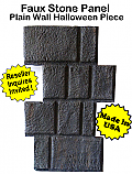 Faux Stone Panel Plain Wall-1 Halloween