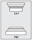CA7-PE7 - Architectural Foam Shape - Capital & Pedestal