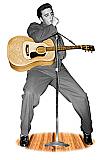 Elvis Singing (Talking) - Elvis Cardboard Cutout Standup Prop