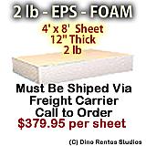 EPS Foam Sheet - 2 lb Density - 48x96x12