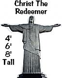 Christ The Redeemer Cardboard Cutout Standup Prop