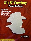 8 Inch Cowboy Foam Shape Silhouette
