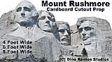 Mt. Rushmore Cardboard Cutout Standup Prop