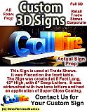 Custom 3D Display Signs