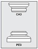CA3-PE3 - Architectural Foam Shape - Capital & Pedestal
