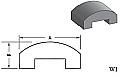 W1 - Architectural Foam Shape - Wall Cap