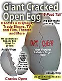 Cracked Egg Foam Prop