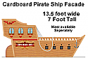 Pirate's Revenge - Cardboard Facade Pirate Treasure Ship