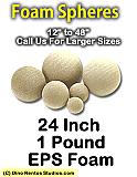 EPS Foam Sphere 24 Inch - 1 lb Density