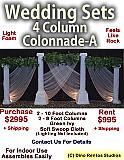 Custom Roman Colonnade - 4 Column Foam Set