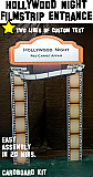 Hollywood Night Filmstrip Entrance - With Custom Text - Cardboard Cutout Kit