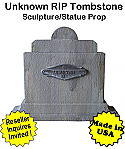 Tombstone Unknown RIP Sculpture Statue Prop