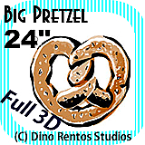 Big Giant Foam Pretzel Prop 24 Inches
