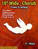 10 Inch Cherub Foam Shape Silhouette