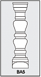 BA5 - Architectural Foam Shape - Baluster