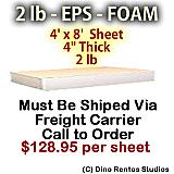 EPS Foam Sheet - 2 lb Density - 48x96x4