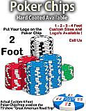 """Giant Foam Casino Poker Chip Props - 24"""" Wide"""