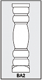 BA2 - Architectural Foam Shape - Baluster