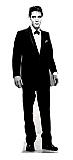 Elvis Black Tuxedo (Talking) - Elvis Cardboard Cutout Standup Prop