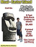 Giant Moai - Easter Island Rock Head Sculpture Prop